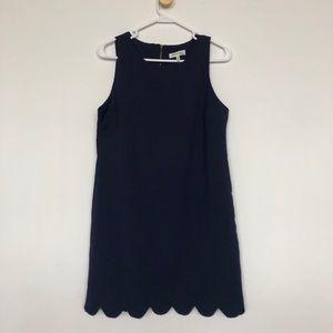 Dresses & Skirts - Navy Scalloped Hem Dress